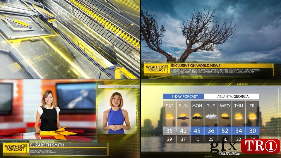 AE模板-体育新闻天气预报电视栏目包装广播图形包第一季-14856548