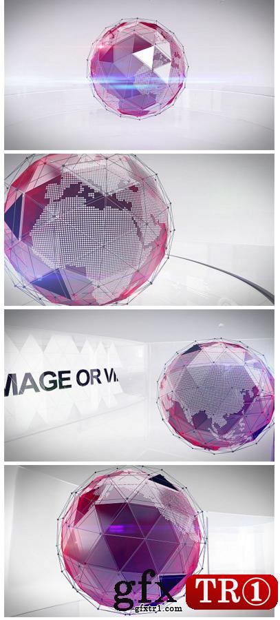 AE模板-三角三维质感全球世界经济新闻电视栏目广播识别包10251344