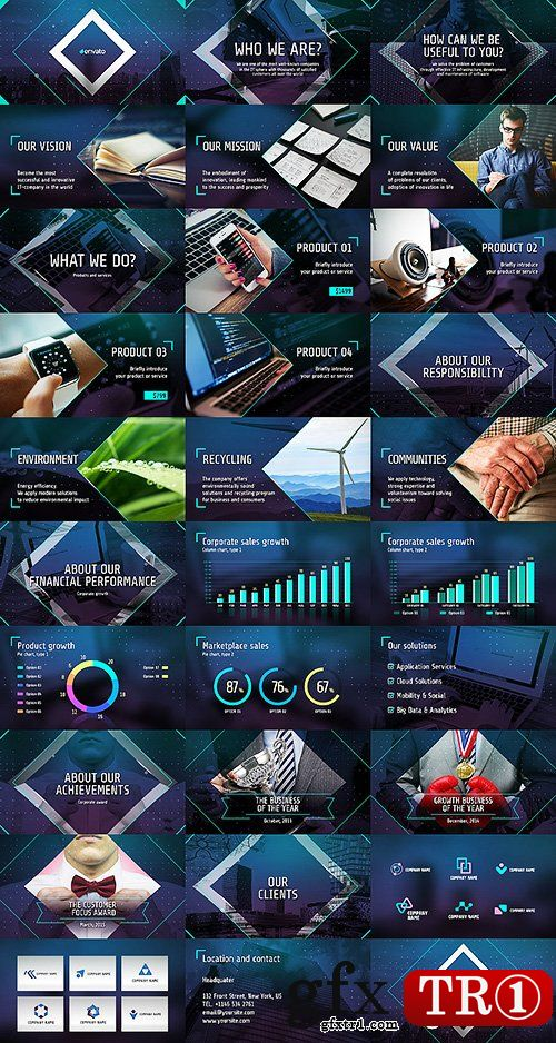 AE模板-未来科技电子商务企业公司业务推广产品促销介绍整套包装14701627