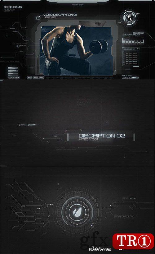 AE模板 高科技间谍电影触摸屏hud界面企业高新产品介绍推广5633831