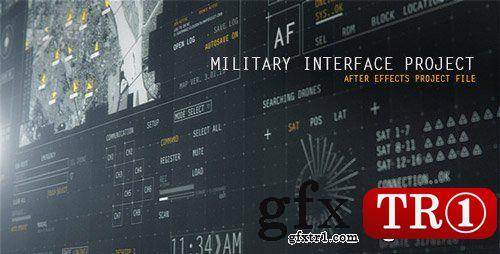 AE模板 5k军事军用工程项目科技科幻电影hud界面mg动画展示12586082