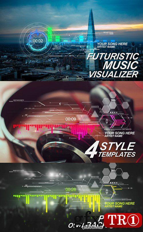 AE模板 企业公司宣传未来音乐科技数据hud界面可视化展示17308441