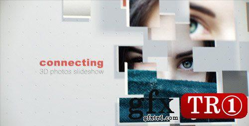 AE模板 三维空间摄像机运动碎片拼贴照片墙图文幻灯片开场 17300185