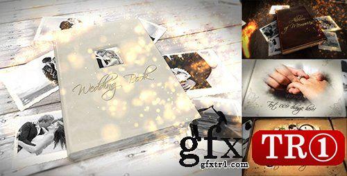 AE模板 婚礼庆典美好记忆婚礼相册翻页书籍图文幻灯片专辑9870328