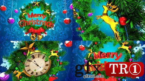 AE模板 新年快乐企业公司年会圣诞晚会开场片头倒计时展示18851307