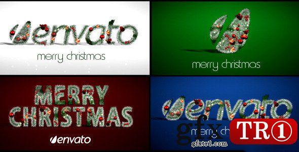 AE模板 圣诞节专题新年快乐圣诞元素编织缠绕logo标志演绎3607508