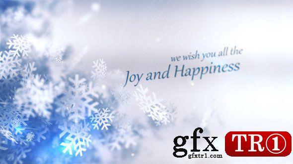 AE模板 圣诞节冬季狂欢雪花粒子logo标志字幕标题6119674
