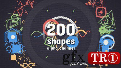AE模板 200款矢量图形alph