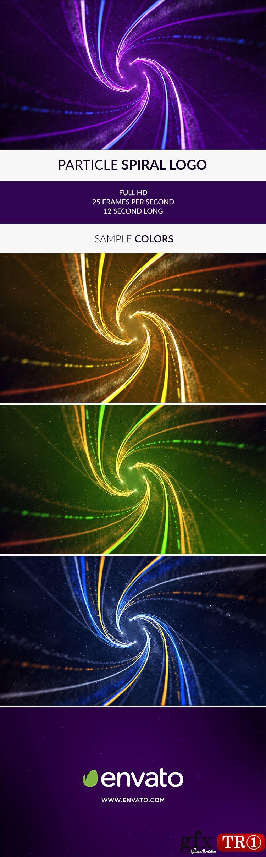 AE模板 酷炫大气五彩粒子螺