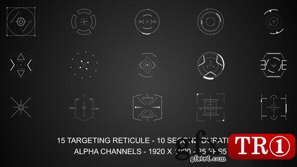 AE模板 瞄准分划板动态视频元素15740399