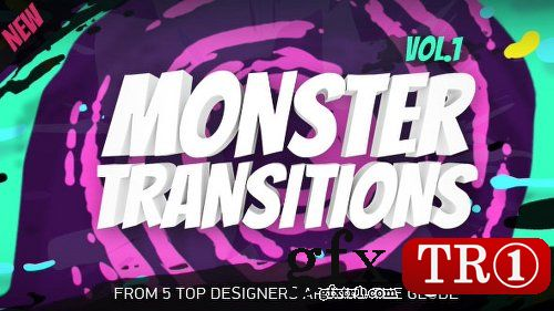 AE模板 企业公司宣传色块怪物转场过渡mg动画包19696211