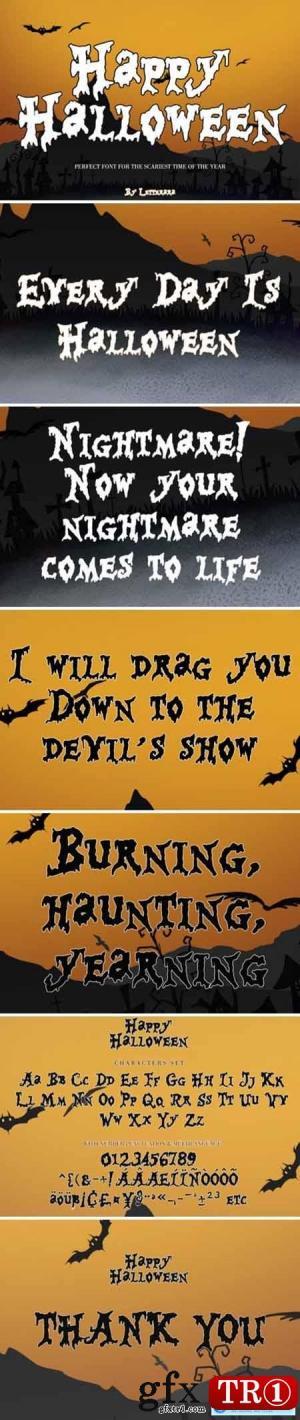 万圣节快乐字体Happy Halloween Font