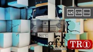 AE模板 4k 3d立方体照片墙展示 21136123