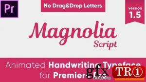 Magnolia  - 手写字体动画PR模板23245313
