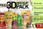 邮袋3D样机包Pouch 3D Mockup Pack 26406894