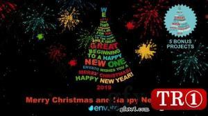 CG天下 AE模板  圣诞树圣诞节问候  9562150
