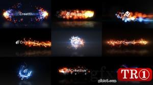 AE模板 快速粒子飞散logo标志演绎 v7 10523821