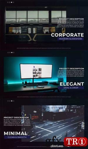 AE模板 现代时尚图文幻灯片开场 65857