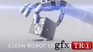 AE模板 简洁3D机器人logo标志演绎  8962784
