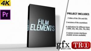 CG天下 PR模板电影特效雪花旧电视元素包 Movie Element Pack  146148