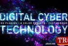 显示数字网络技术徽标8种颜色预设 Digital Cyber Technology Logo Reveal. 8 Color Presets. 26624926