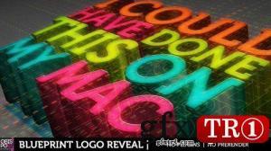 CG天下 AE模板 蓝图绘制logo标志演绎 6791201