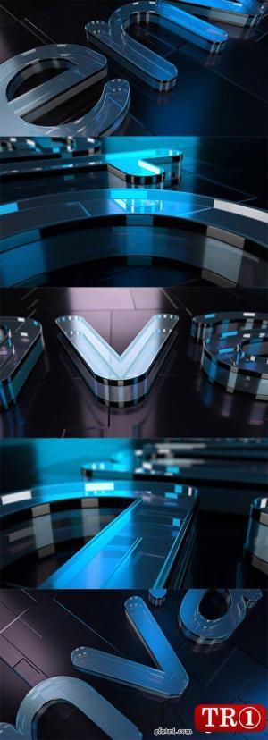 AE模板 炫酷玻璃质感e3dv2.2三维工程文件logo标志演绎  21173701