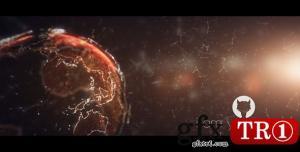 AE模板 酷炫科技地球粒子logo标志演绎 6359431