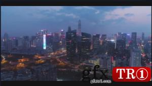夜幕降临时的深圳市  -899277