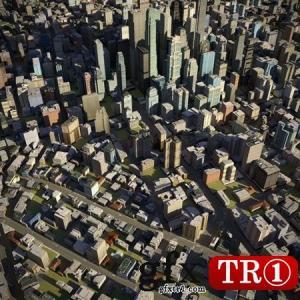 City 23 Low-poly 3D模型