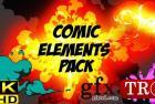 CG天下 视频素材  现代时尚fx特效卡通mg动画视频素材工具包Comic Fx Pack 17323455
