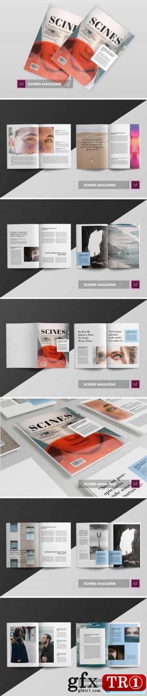 Scines杂志模板Scines Magazine Template