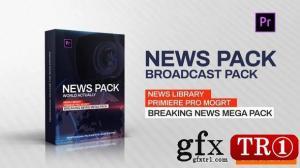 新闻电视栏目广播包PR模板 -  Broadcast Pack 23261869