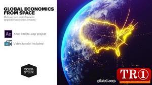 来自太空图表的全球经济学25031384
