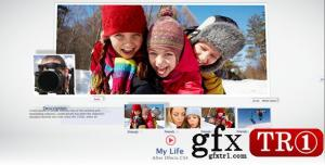 AE模板 我的生活简洁社交网络网站时间线展示  1403854