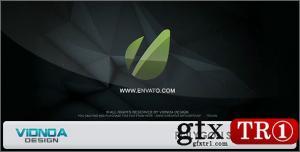 CG天下 AE模板  多边形切片logo标志演绎5493336