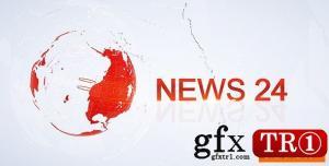 CG天下 AE模板  24小时财经政治新闻电视栏目包装 20853007