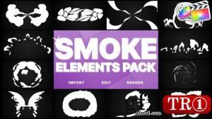 烟雾mg动画元素fcpx模板24297220