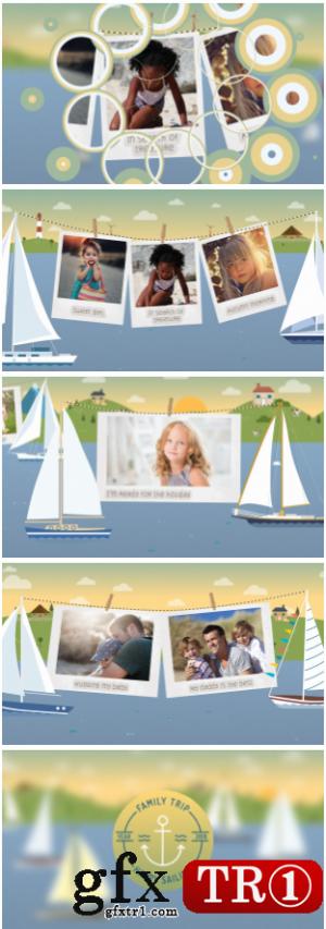 AE模板 卡通少儿图文幻灯片旅行电视栏目包装 21462381