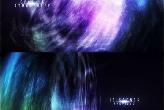 AE模板 极光背景视频字幕标题展示  67778