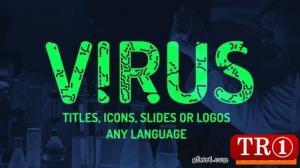 病毒标题徽标图标 Instagram故事预设 25737875