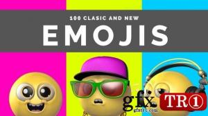 100 Classic And New Emojis 29840105 - Motion Graphics