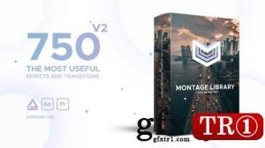 AE模板 750款蒙太奇视频特效库 21492033