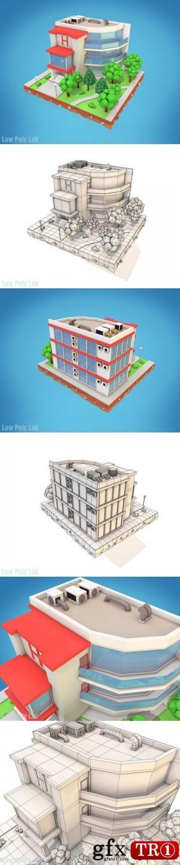 3D模型 卡通酒店Low Poly低模 1432251