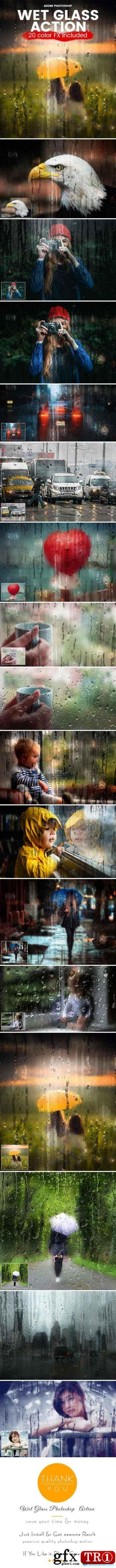 Graphicriver Wet Glass Photoshop Action 20614835