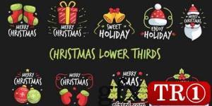 圣诞节字幕条Christmas Lower Thirds 22910386