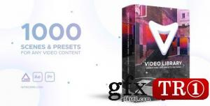 AE模板 1000款视频画面预设元素库 V1.1 21390377