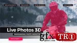 CG天下 AE模板  3D专业照片转换器摄像机运动图文幻灯片 20365048