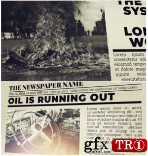 AE模板 报纸旧闻新闻调查动画展示   2368960