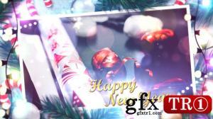 CG天下 AE模板  冬季圣诞节图文幻灯片开场 14146611